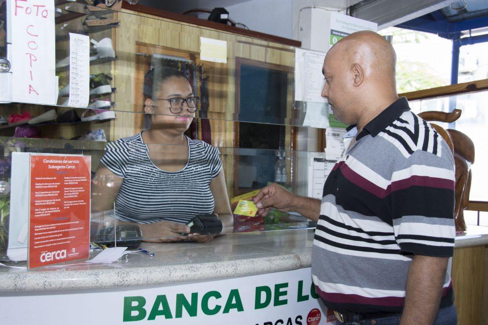 Monto transado por subagentes bancarios aumentó un 36.7% en el primer trimestre del 2020.